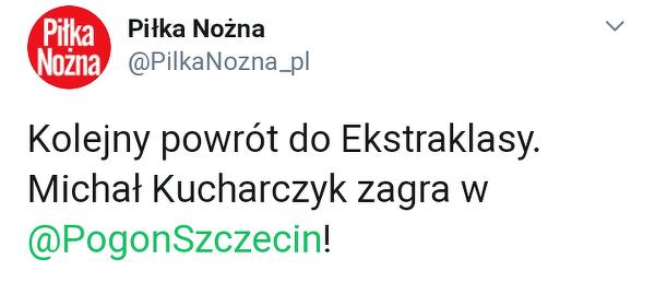 Michał Kucharczyk w Pogoni!