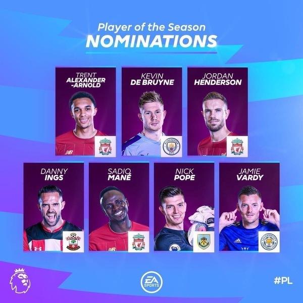 Nominacje do piłkarza sezonu w Premier League