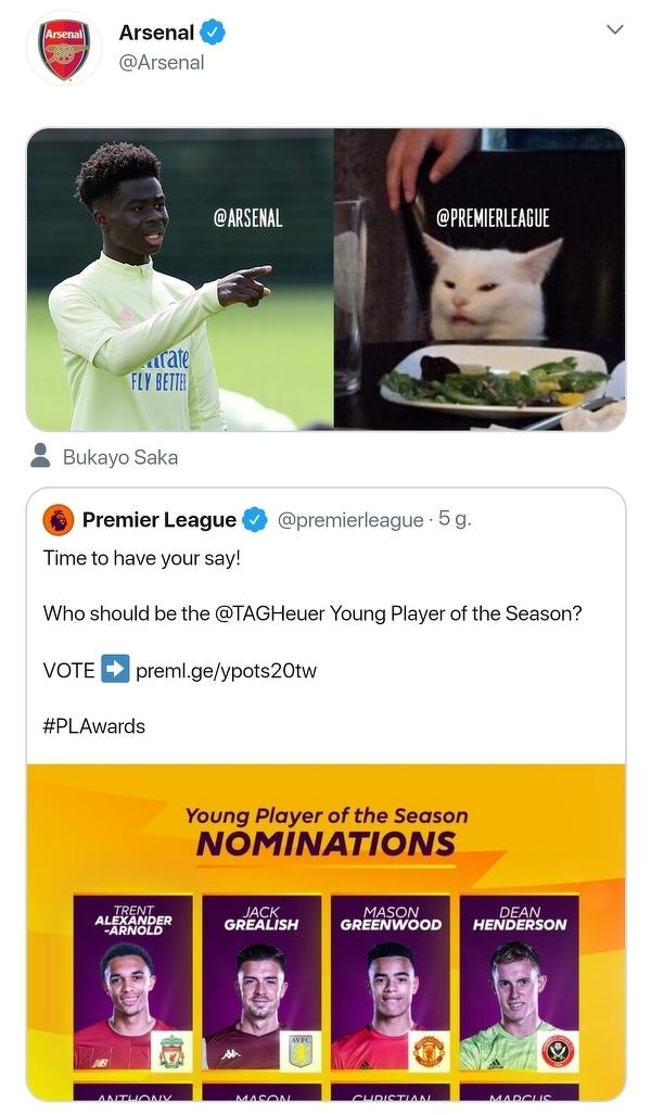 Według Arsenalu ktoś został pominięty w nominacjach