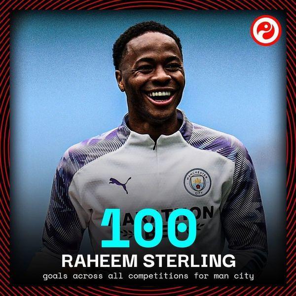 Raheem Sterling zdobył dzisiaj 100 bramkę dla Manchesteru City we wszystkich rozgrywkach