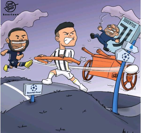 Dwie bramki Ronaldo z Lyonem nie wystarczyły, aby uratować Juve i jego trenera