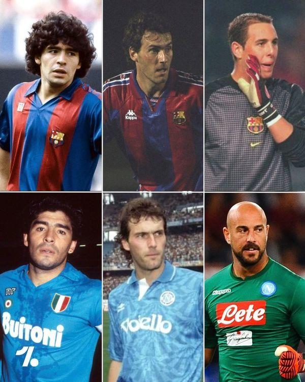 Tylko 3 piłkarzy grało w barwach Napoli i Barcelony