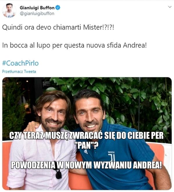 Gianluigi Buffon pogratulował Andreii Pirlo