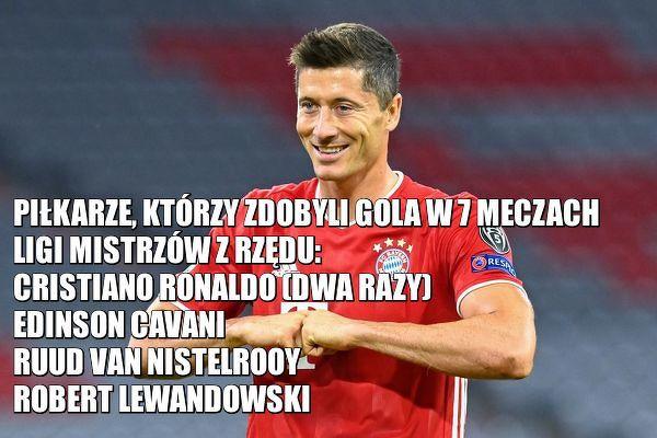 Robert Lewandowski strzela gola w siódmym kolejnym meczu Ligi Mistrzów