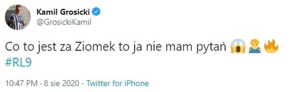Kamil Grosicki krótko o koledze z kadry
