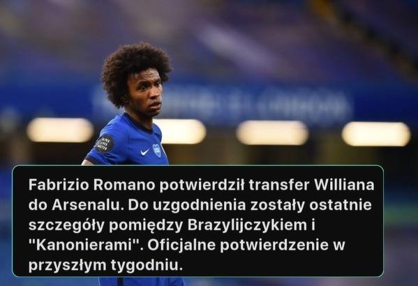 Willian zostanie piłkarzem Arsenalu