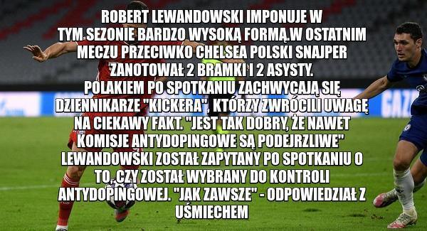 Lewandowski podejrzany o doping?