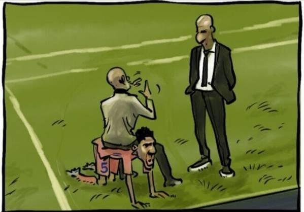 Rola Varane'a w meczu z Man City