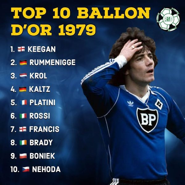 Tak wyglądała czołowa 10 Złotej Piłki w 1979 roku