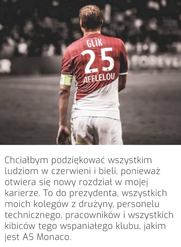 Kamil Glik pożegnał się z AS Monaco