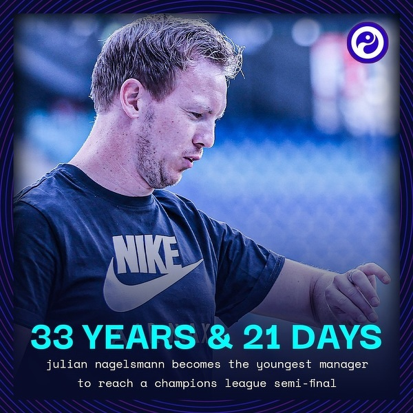 Najmłodszy trener w historii, który awansował do półfinału Ligi Mistrzów