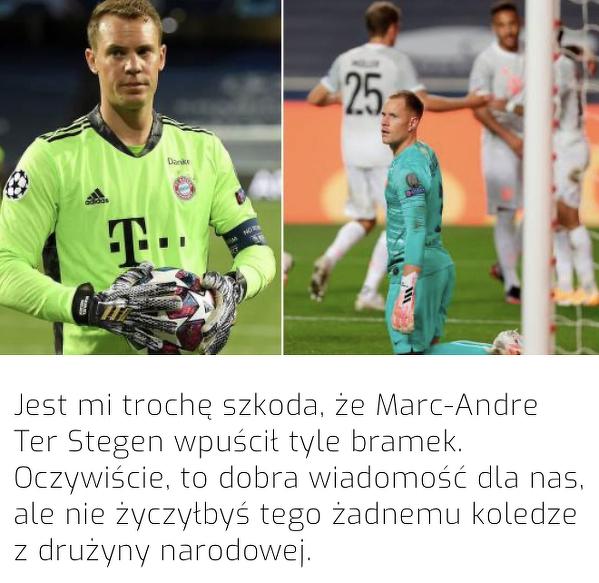 Neuer współczuje Ter Stegenowi