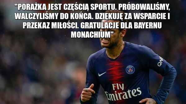 Neymar po meczu
