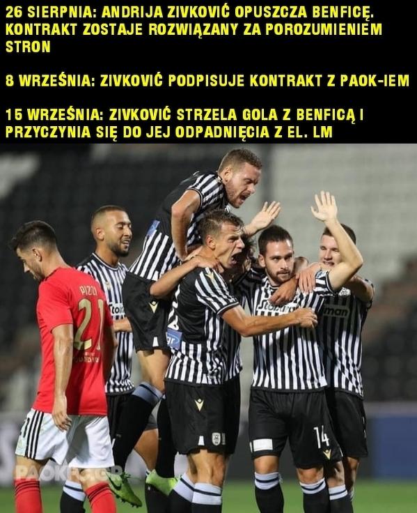 Andrija Zivković eliminuje swój były klub