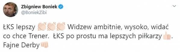 Boniek pogratulował ŁKS-owi