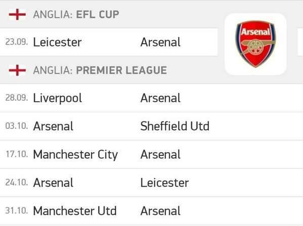 Arsenal czekają bardzo ciężkie mecze