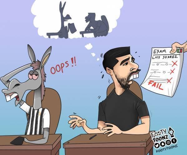 Luis Suarez nie potrafił ściągać