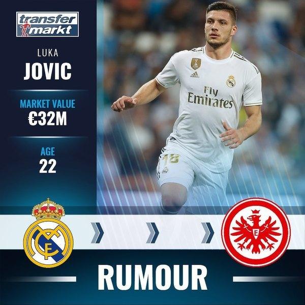Luka Jovic chce wrócić do Eintrachtu Frankfurt