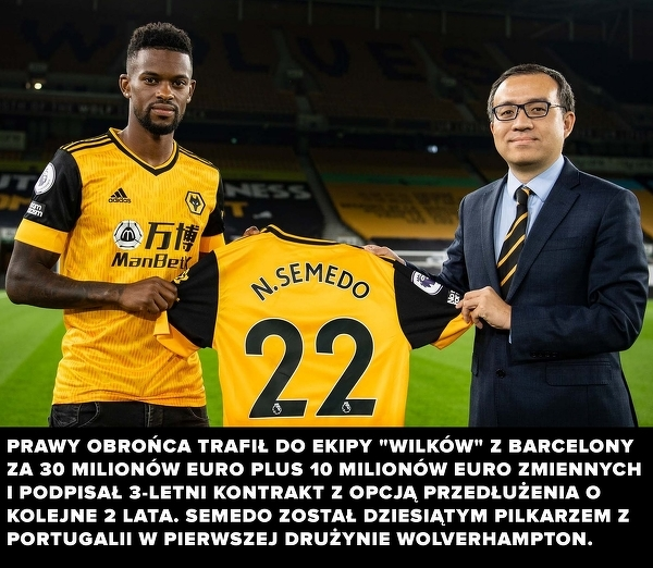 Nelson Semedo piłkarzem Wolverhampton