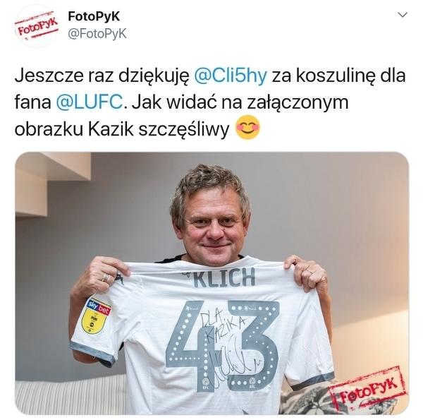 Największy fan Mateusza Klicha