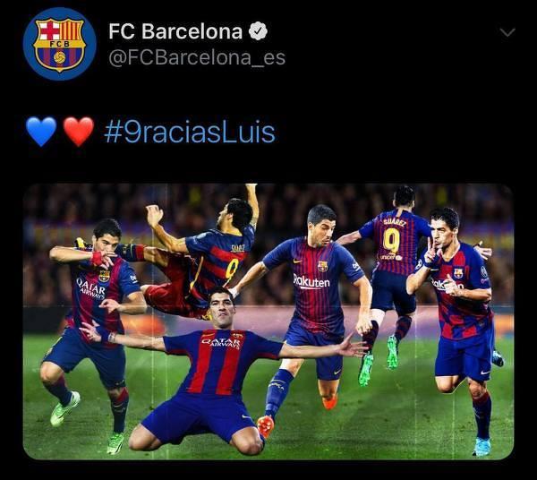 Barcelona pożegnała Luisa Suareza