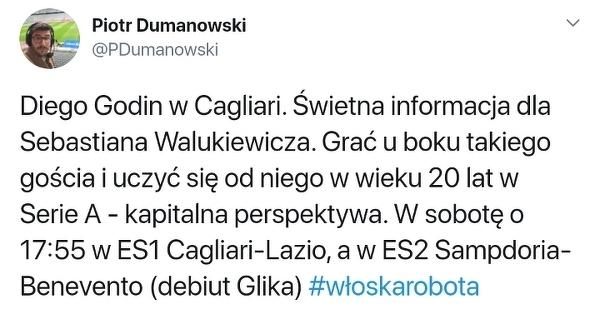 Walukiewicz sporo się nauczy u boku Godina