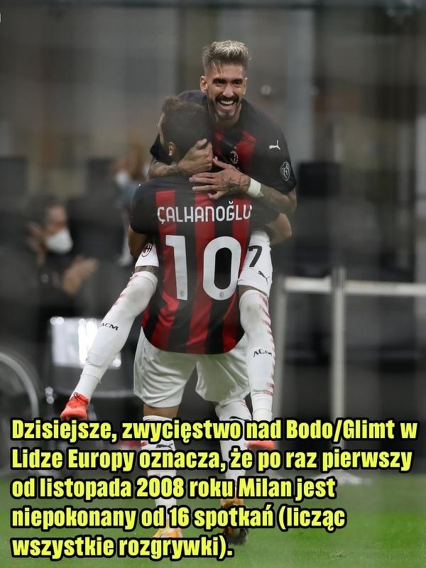 Ostatni raz Milan miał taką serię gdy trenerem był Ancelotti