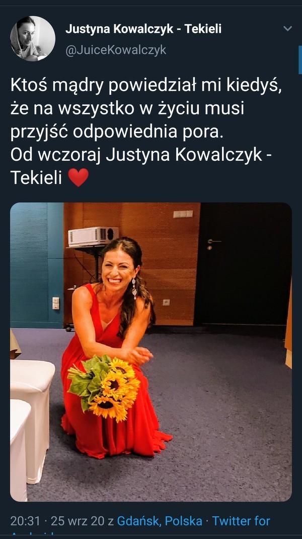 Justyna wyszła za mąż