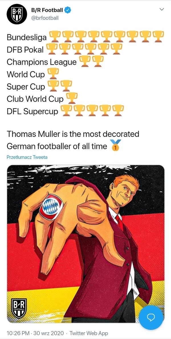 Thomas Müller został najbardziej utytułowanym Niemcem w historii