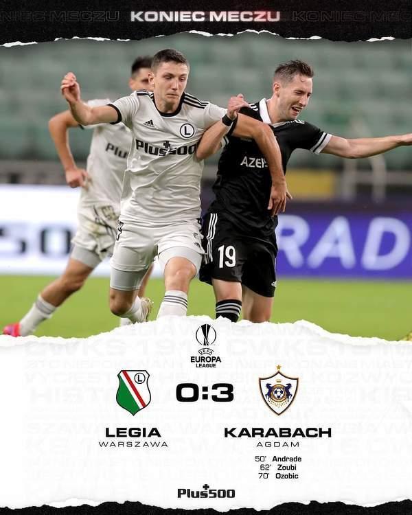 Legia w kompromitującym stylu odpada w decydującym meczu el. Ligi Europy