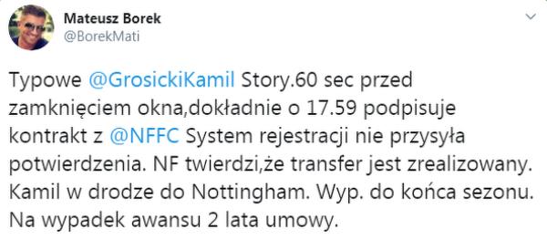 Kamil Grosicki i jego fetysz ostatniego dnia okienka transferowego