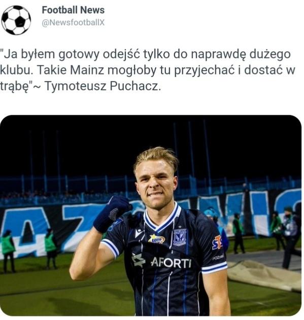 Tymoteusz Puchacz szczerze o ofercie transferowej Mainz