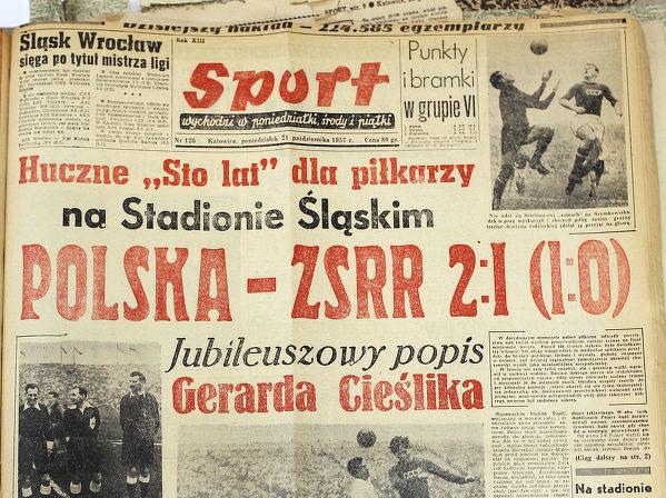 Tego dnia w 1957 Polska osiągnęła prestiżowe zwycięstwo z ZSRR 2:1 po dwóch bramkach Cieślika