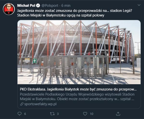 Jaga gospodarzem na Łazienkowskiej?