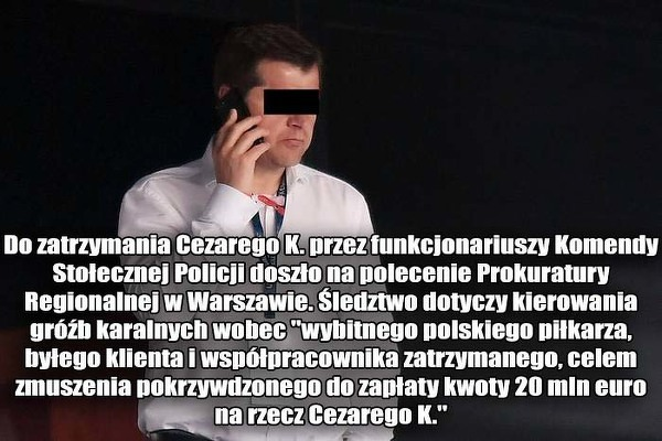 Cezary K. zatrzymany przez policję