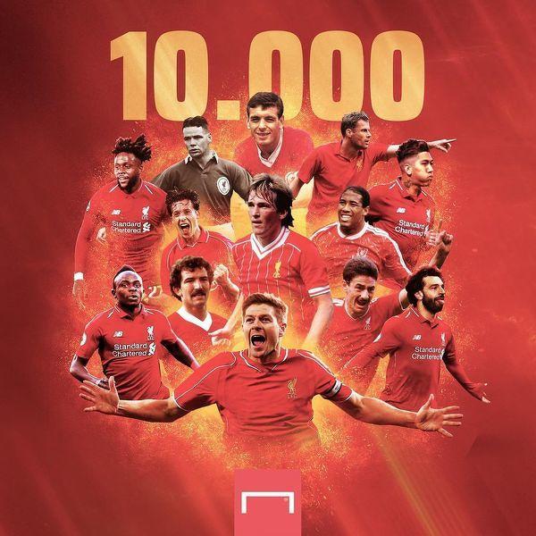 Jota strzelcem 10.000 gola w historii Liverpoolu