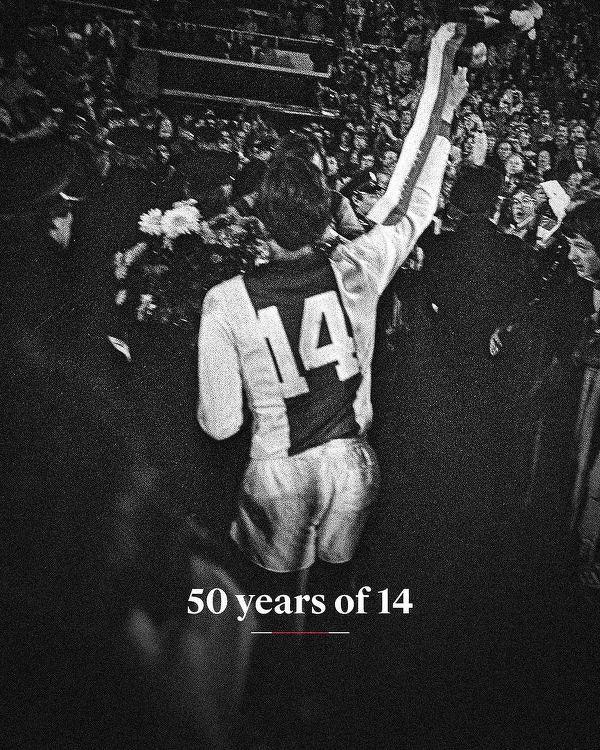 Dziś mija 50 lat od kiedy Johan Cruyff zaczął występować z 14 na koszulce