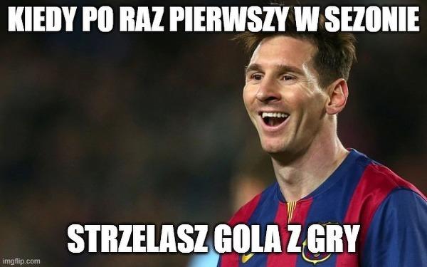 Messi może mieć powody do radości