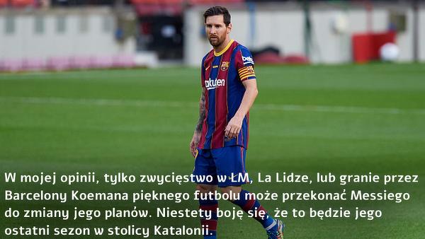 Rivaldo o przyszłości Messiego