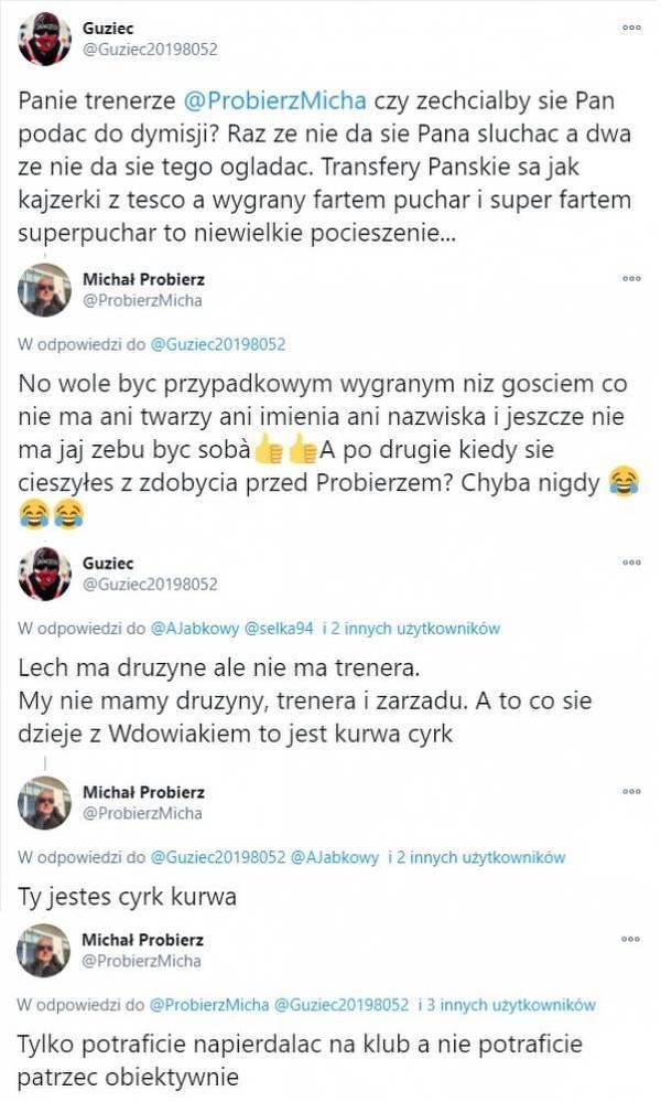 Michał Probierz wdał się w pyskówki z kibicami Cracovii