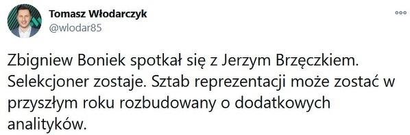 Zbigniew Boniek podjął decyzję w sprawie przyszłości Jerzego Brzęczka