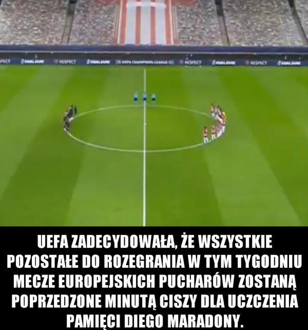 Piłkarze uczą pamięć Diego minutą ciszy
