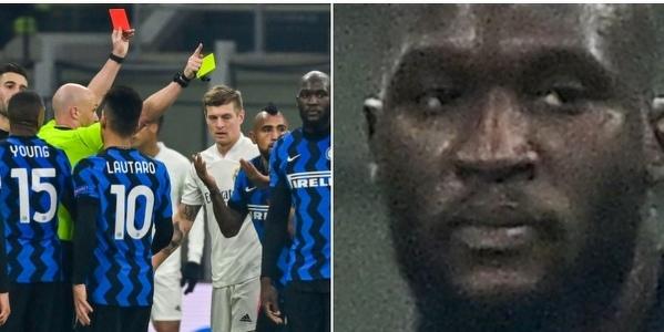 Lukaku że spokojem przyjął czerwoną kartkę dla Vidala
