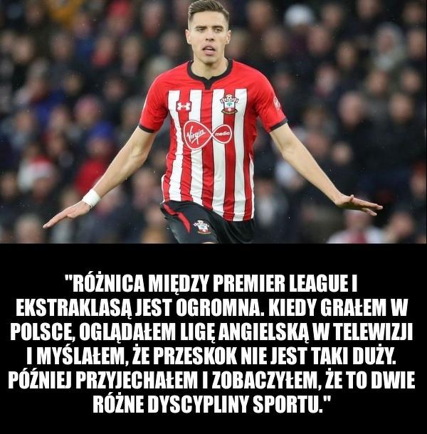 Jan Bednarek porównał Ekstraklasę do Premier League
