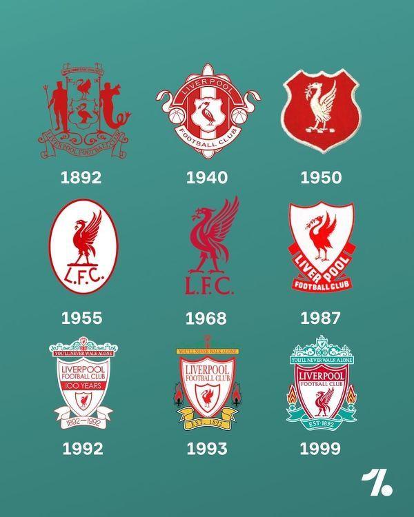 Zmiana herbu Liverpoolu na przestrzeni lat