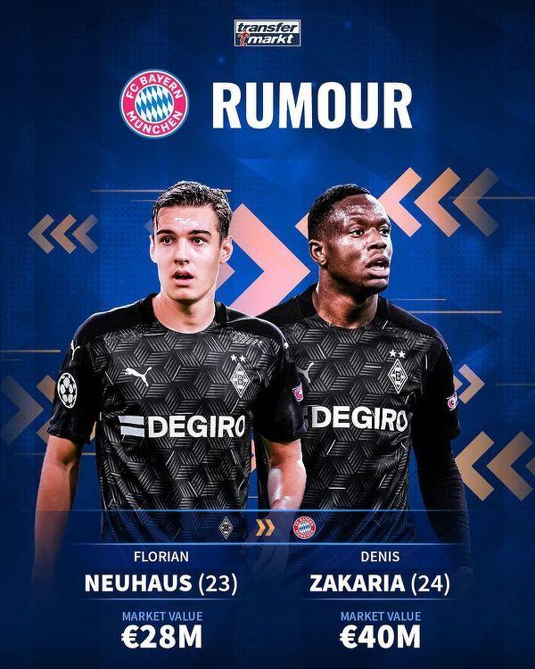 Szykują się negocjacje na linii Bayern - Borussia Mönchengladbach