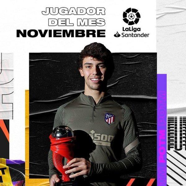 Joao Felix piłkarzem miesiąca w La Liga