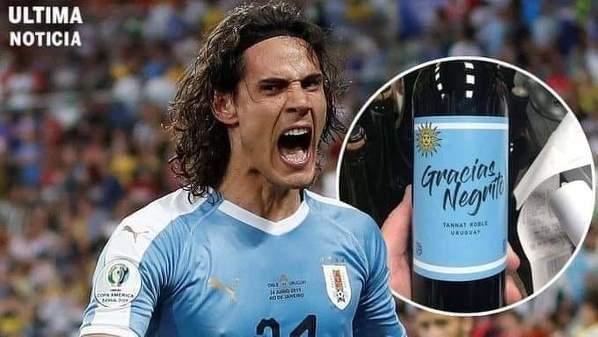 """W Urugwaju wypuścili na rynek wino o nazwie """"Gracias Negrito"""", w związku z zawieszeniem Edinsona Cavaniego przez FA."""