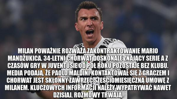 Mario Mandžukić w AC Milan?