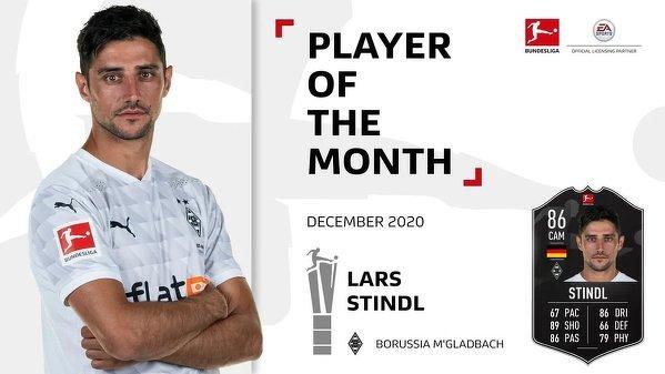 Lars Stindl piłkarzem miesiąca w Bundeslidze